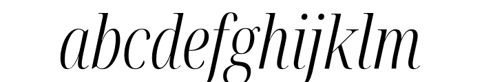Noto Serif Display ExtraCondensed Light Italic Font LOWERCASE