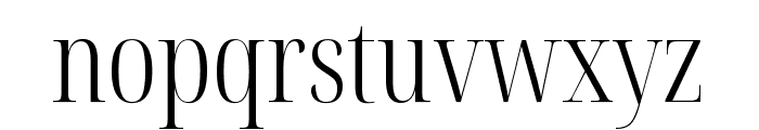 Noto Serif Display ExtraCondensed Light Font LOWERCASE