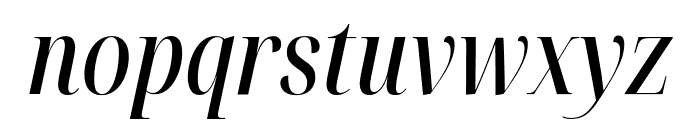 Noto Serif Display ExtraCondensed Medium Italic Font LOWERCASE