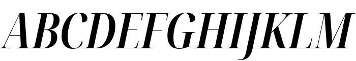 Noto Serif Display ExtraCondensed SemiBold Italic Font UPPERCASE