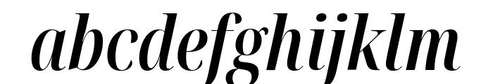 Noto Serif Display ExtraCondensed SemiBold Italic Font LOWERCASE