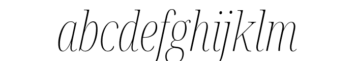 Noto Serif Display ExtraCondensed Thin Italic Font LOWERCASE
