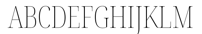 Noto Serif Display ExtraCondensed Thin Font UPPERCASE