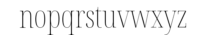 Noto Serif Display ExtraCondensed Thin Font LOWERCASE