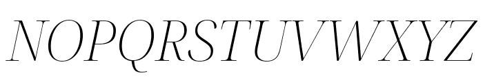 Noto Serif Display ExtraLight Italic Font UPPERCASE