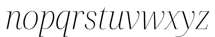 Noto Serif Display ExtraLight Italic Font LOWERCASE