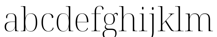 Noto Serif Display ExtraLight Font LOWERCASE