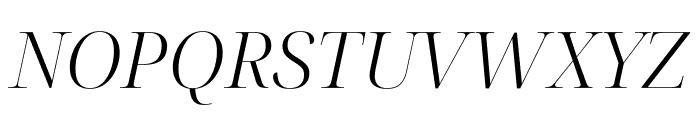 Noto Serif Display Light Italic Font UPPERCASE