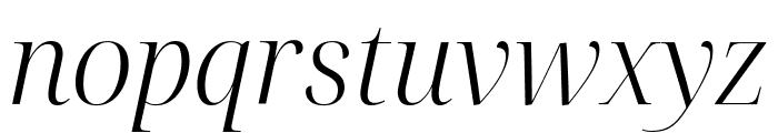 Noto Serif Display Light Italic Font LOWERCASE