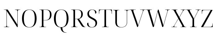 Noto Serif Display Light Font UPPERCASE