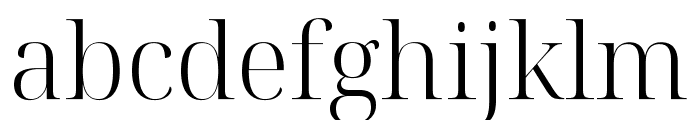 Noto Serif Display Light Font LOWERCASE