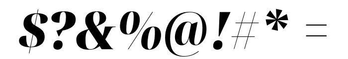 Noto Serif Display SemiCondensed Black Italic Font OTHER CHARS