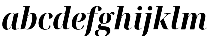 Noto Serif Display SemiCondensed Bold Italic Font LOWERCASE