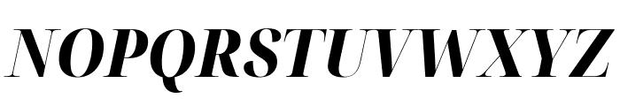 Noto Serif Display SemiCondensed ExtraBold Italic Font UPPERCASE