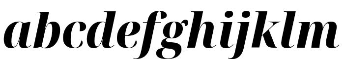 Noto Serif Display SemiCondensed ExtraBold Italic Font LOWERCASE