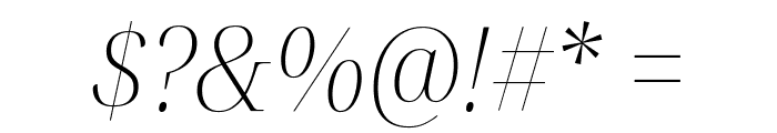 Noto Serif Display SemiCondensed ExtraLight Italic Font OTHER CHARS