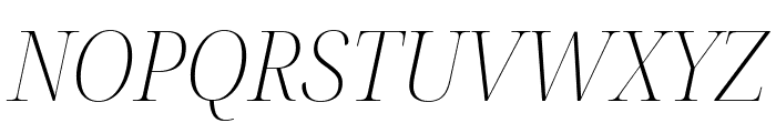 Noto Serif Display SemiCondensed ExtraLight Italic Font UPPERCASE