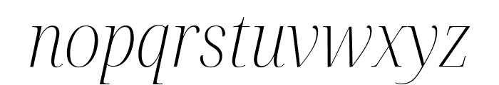 Noto Serif Display SemiCondensed ExtraLight Italic Font LOWERCASE