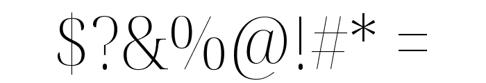 Noto Serif Display SemiCondensed ExtraLight Font OTHER CHARS