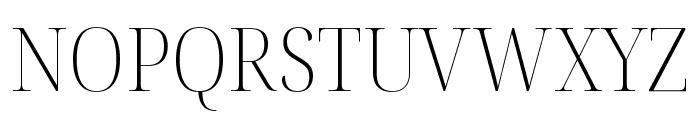 Noto Serif Display SemiCondensed ExtraLight Font UPPERCASE