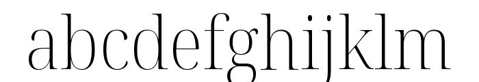 Noto Serif Display SemiCondensed ExtraLight Font LOWERCASE