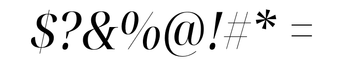 Noto Serif Display SemiCondensed Italic Font OTHER CHARS
