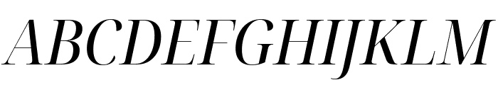 Noto Serif Display SemiCondensed Italic Font UPPERCASE