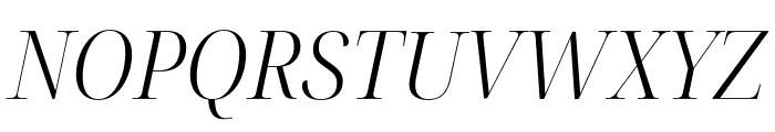 Noto Serif Display SemiCondensed Light Italic Font UPPERCASE