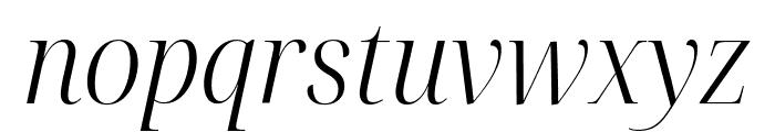 Noto Serif Display SemiCondensed Light Italic Font LOWERCASE