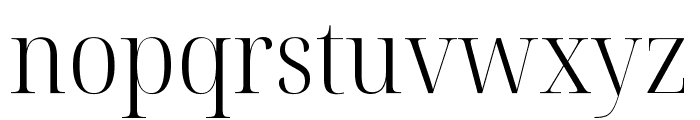 Noto Serif Display SemiCondensed Light Font LOWERCASE