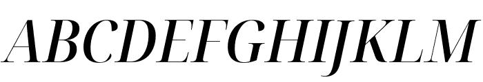 Noto Serif Display SemiCondensed Medium Italic Font UPPERCASE