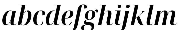 Noto Serif Display SemiCondensed SemiBold Italic Font LOWERCASE