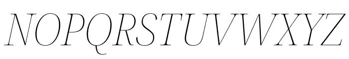 Noto Serif Display SemiCondensed Thin Italic Font UPPERCASE