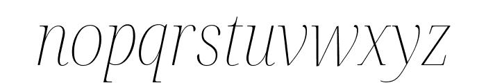 Noto Serif Display SemiCondensed Thin Italic Font LOWERCASE