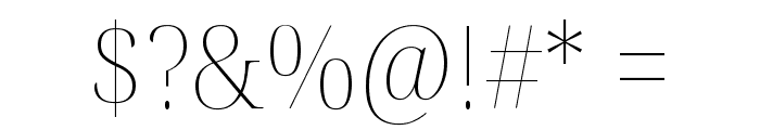 Noto Serif Display SemiCondensed Thin Font OTHER CHARS