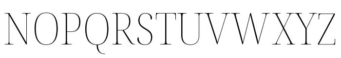 Noto Serif Display SemiCondensed Thin Font UPPERCASE