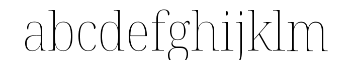 Noto Serif Display SemiCondensed Thin Font LOWERCASE