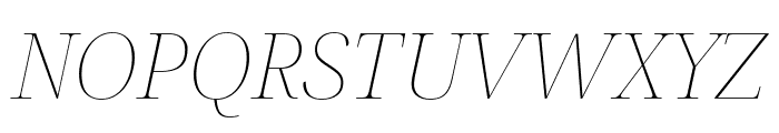 Noto Serif Display Thin Italic Font UPPERCASE