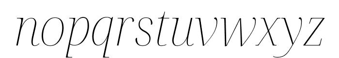 Noto Serif Display Thin Italic Font LOWERCASE