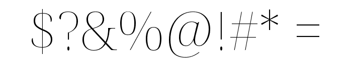 Noto Serif Display Thin Font OTHER CHARS
