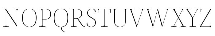 Noto Serif Display Thin Font UPPERCASE