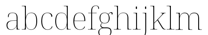 Noto Serif Display Thin Font LOWERCASE