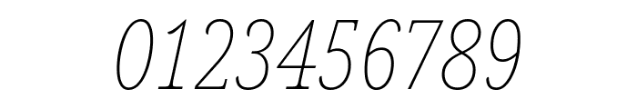 Noto Serif ExtraCondensed Thin Italic Font OTHER CHARS