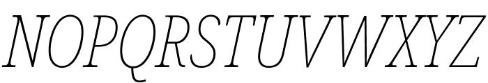 Noto Serif ExtraCondensed Thin Italic Font UPPERCASE