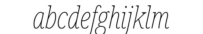 Noto Serif ExtraCondensed Thin Italic Font LOWERCASE