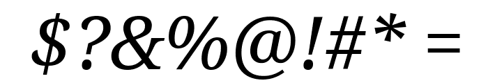 Noto Serif Italic Font OTHER CHARS