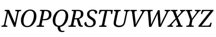Noto Serif Italic Font UPPERCASE