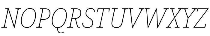 Noto Serif SemiCondensed Thin Italic Font UPPERCASE