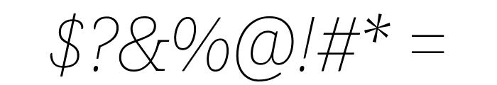 Noto Serif Thin Italic Font OTHER CHARS