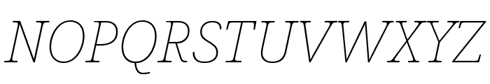 Noto Serif Thin Italic Font UPPERCASE